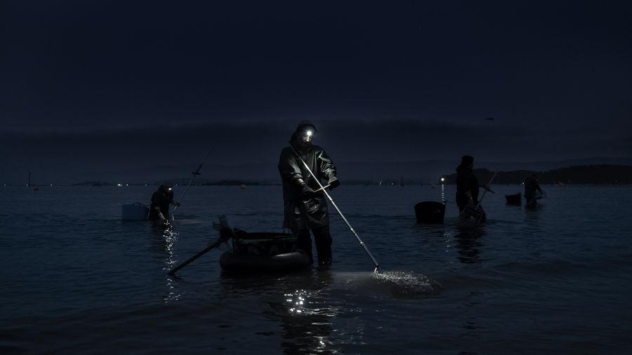 Sirenas en la noche