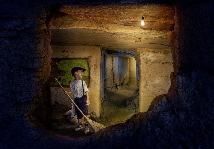 Acondicionando la casa cueva