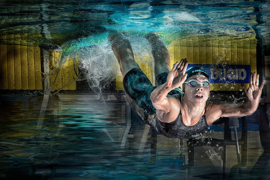le plongeur olympique