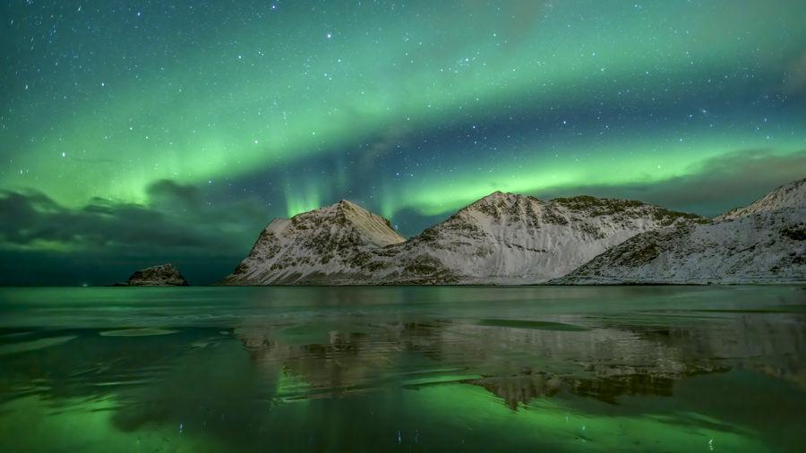 Doble aurora boreal