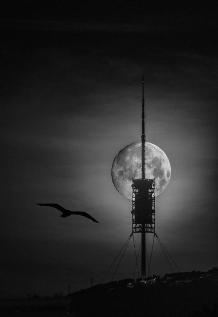 Lluna plena a Barcelona