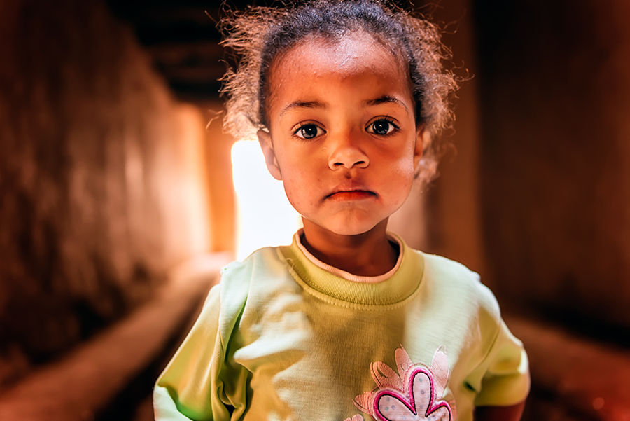 Mirada d'una nena marroqui