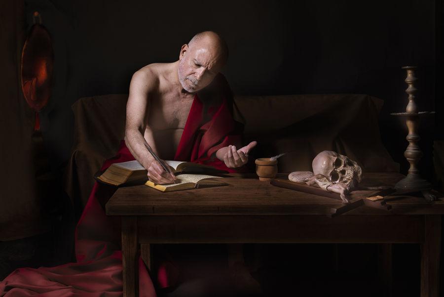 San Jerónimo escribiendo