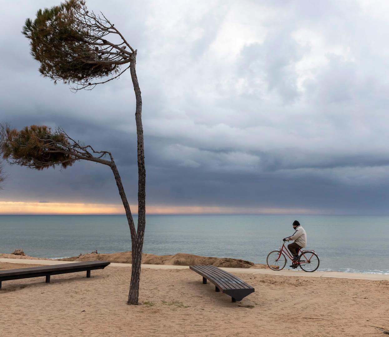 En bici bora el mar