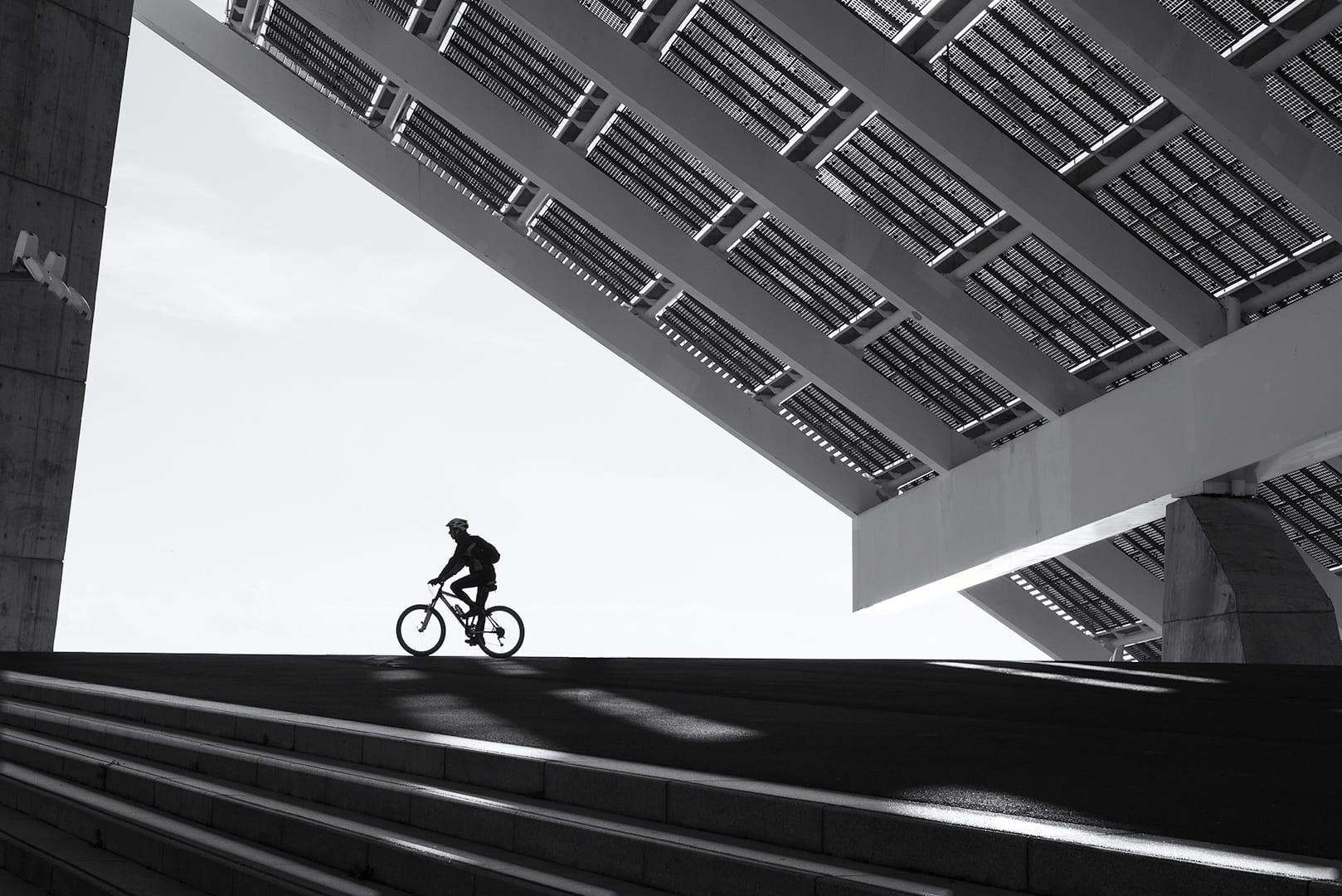 En bici