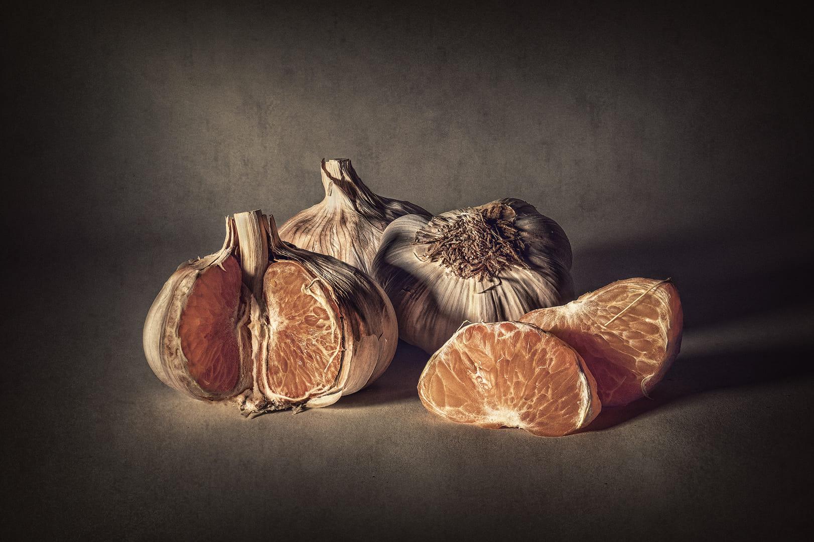 Ajos y mandarinas