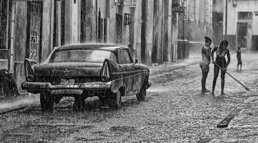 LLuvia en La Habana- Cuba