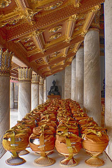 comida en el templo