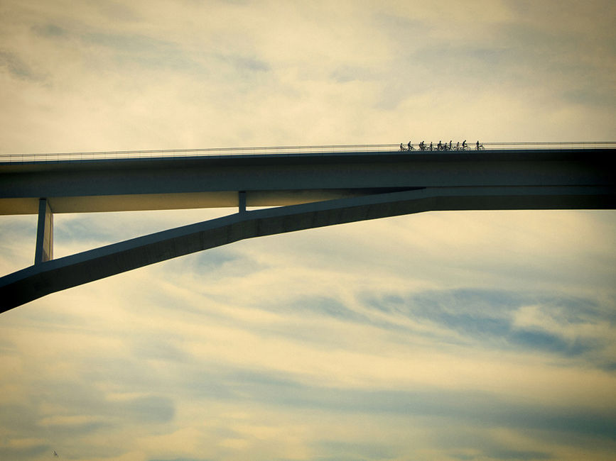 bicicletes creuant
