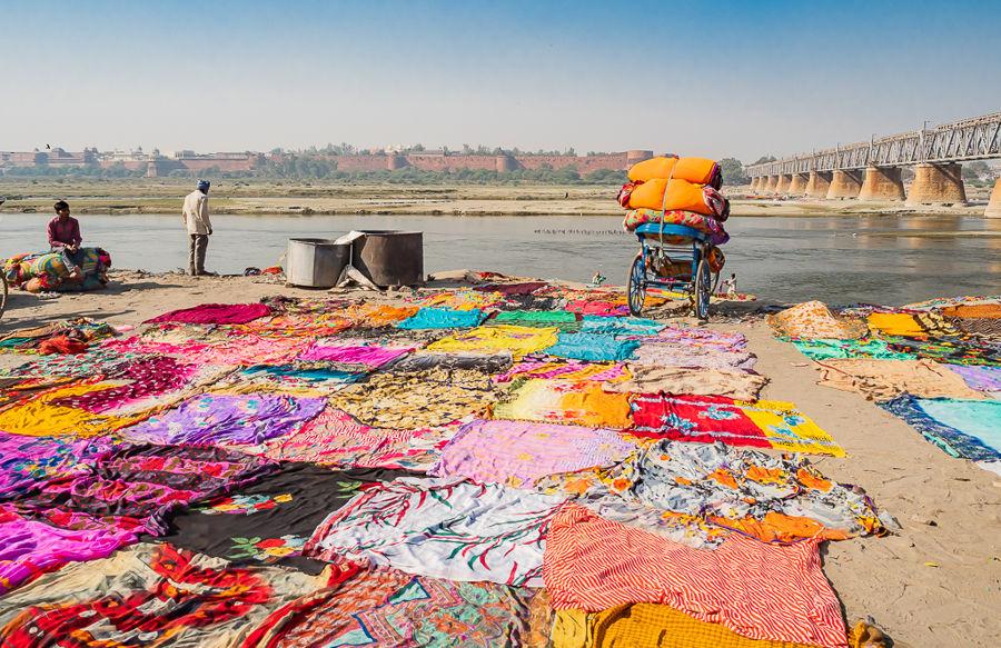 Lavanderías en el Rio Yamuna