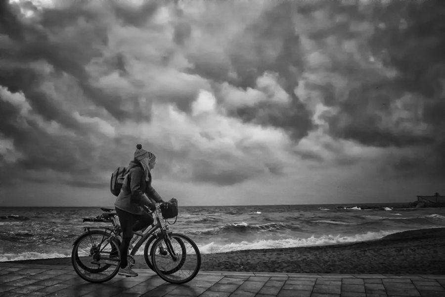 Mirando la tormentam
