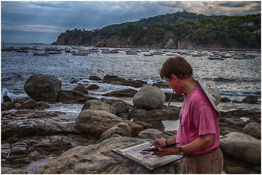 Pintant al mar
