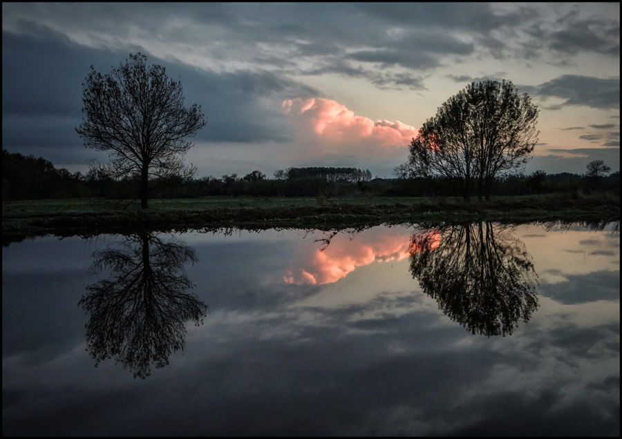 Reflexa en la posta del Sol