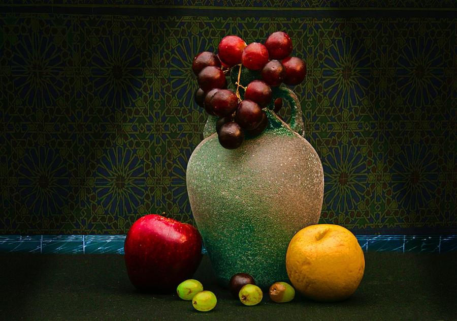jarron co frutas