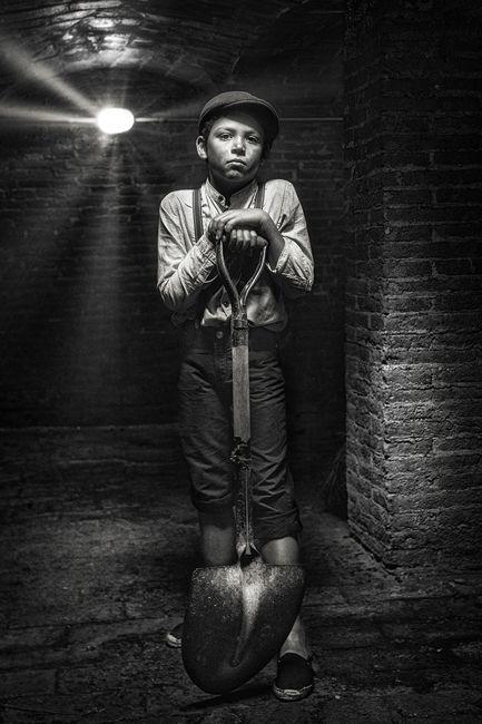 Retrato en la carbonera