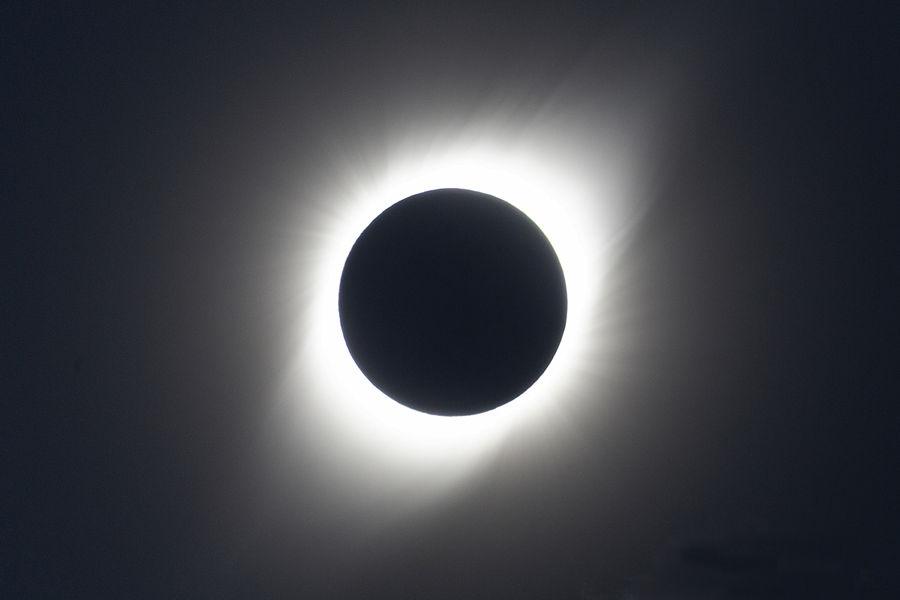 Corona Solar en un Eclipsi Total de Sol