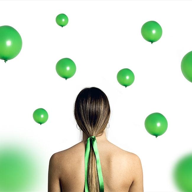 Green balloons]