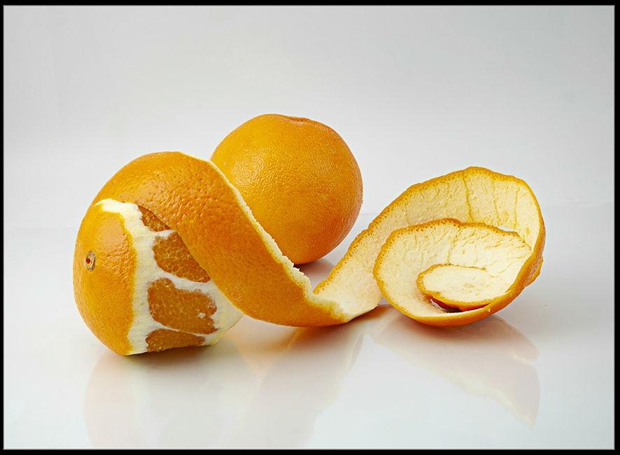 Naranja y piel