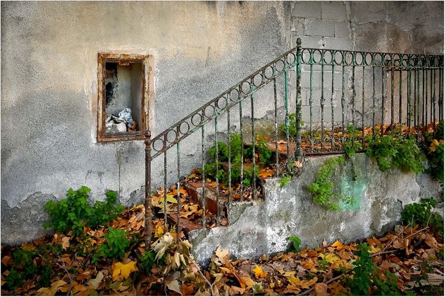 Otoño em la escalera