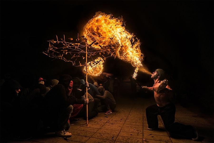 Paraigua de foc