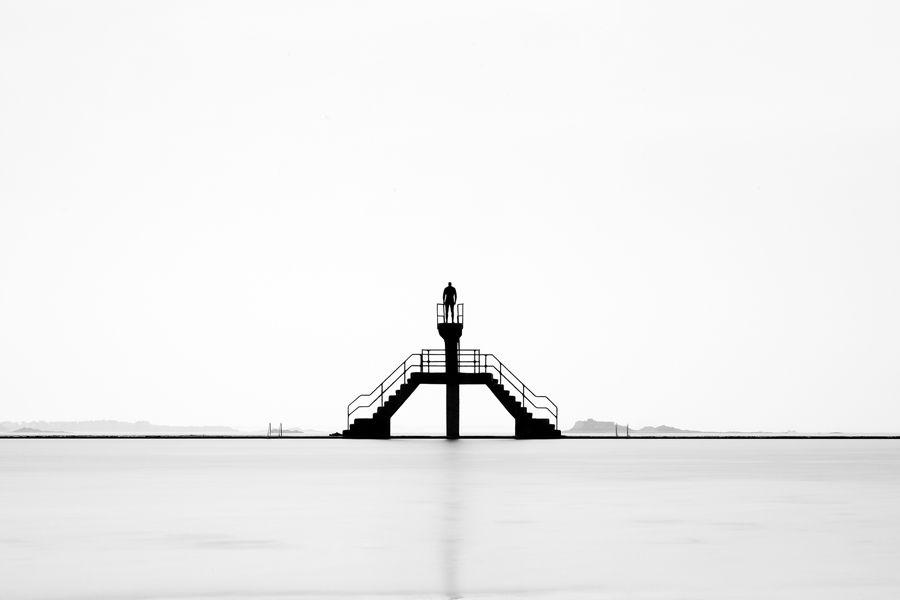 Trampolí en el mar