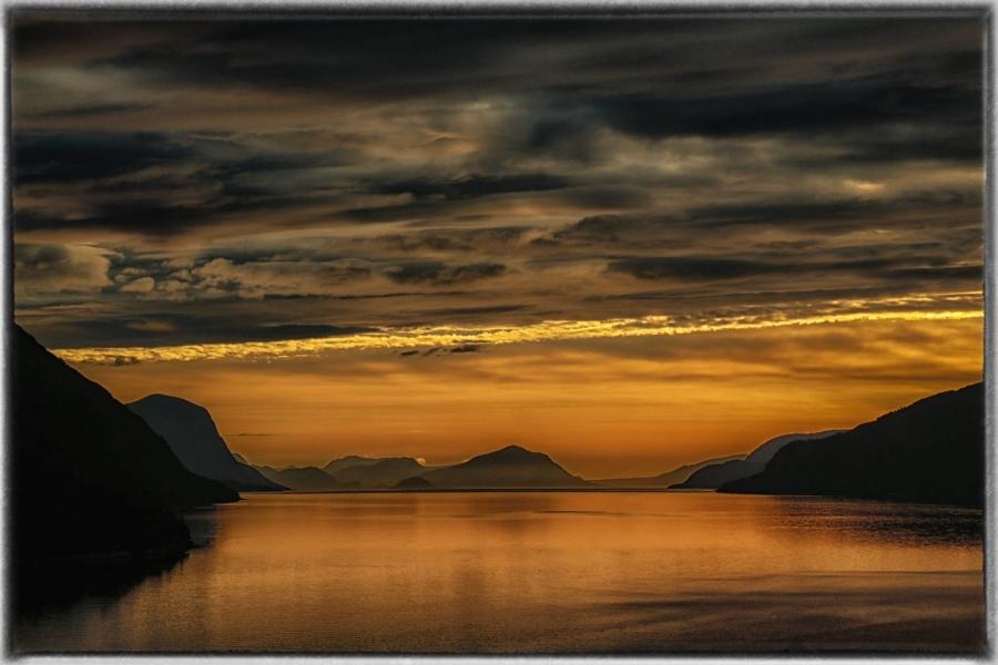 Atardecer en los fiordos
