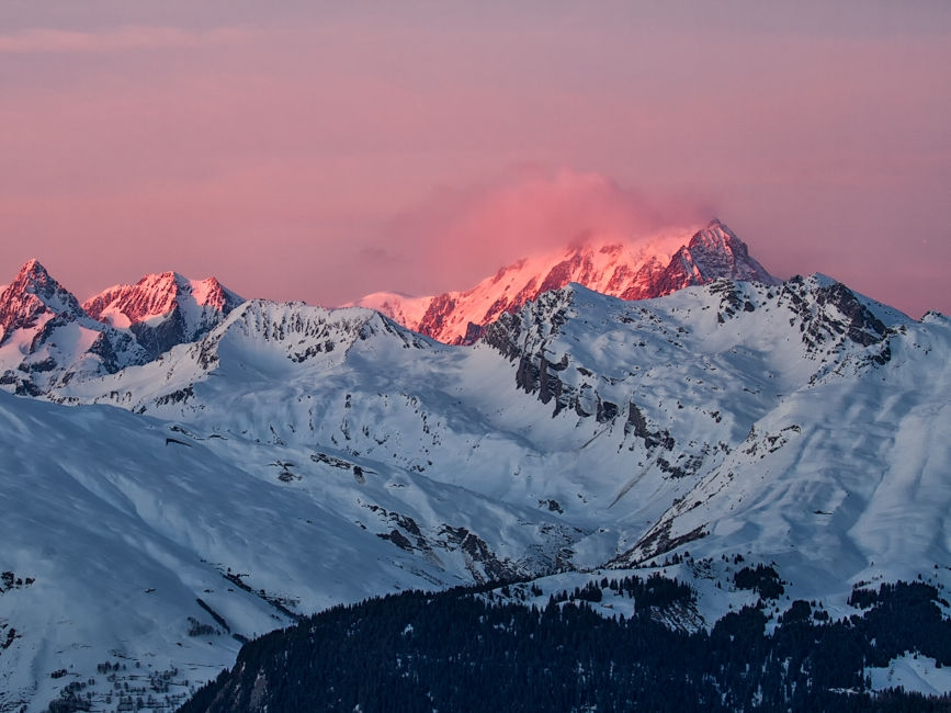 Atardecer en el Mont Blanc