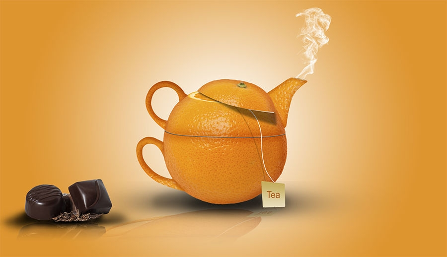 Tetera naranja