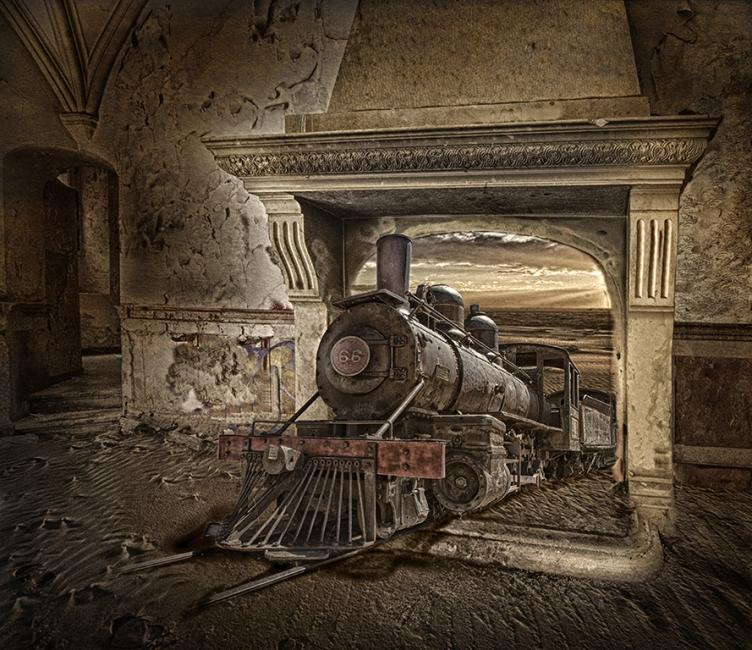 Le train de la cheminée
