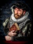 Caballero con lechuguilla y libro
