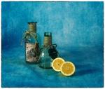 Bodegó blau i llimones