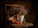 Bodegon con brezo y tomates