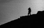 Fotógrafo en el acantilado