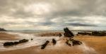 Marea baja en playa de Vega