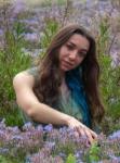 Nadia entre flors