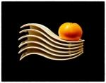 Plats ondulats i mandarina