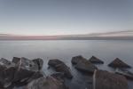 Vista al horizonte de un amanecer - Espigón del Gas